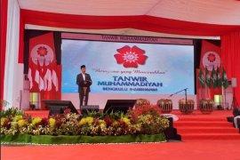 Pukul dol, Jokowi resmi buka Tanwir Muhammadiyah di Bengkulu