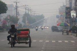 Kabut asap di Kota Dumai