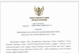 Lima Petahana Lolos Komisioner KPU Jatim 2019-2024