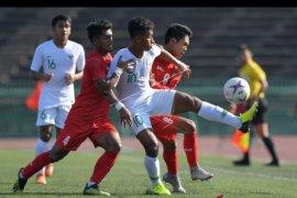 Timnas Indonesia U-22 imbang lawan Myanmar