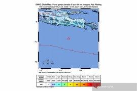 5,9 Magnitude Earthquake Jolts Southern Coastal Region of East Java