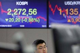 Bursa saham Seoul melemah 0,15 persen jadi 2.158,96 poin