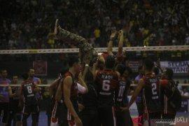 Surabaya Bhayangkara Samator pastikan gelar juara Proliga