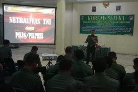 Korem 051/Wijayakarta Bekasi sosialisasi netralitas TNI di Pemilu