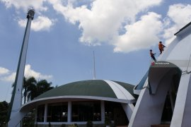 Basarnas  Bersihkan Masjid