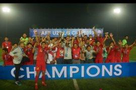 Timnas Indonesia juarai Piala AFF U-22