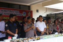Polda sumut gagalkan 33,5 kg sabu jaringan Malaysia