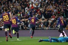 Suarez bawa Barcelona ke final Copa del Rey usai libas Madrid 3-0