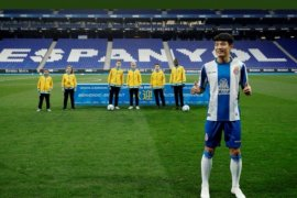 Pemain Espanyol asal China Wu Lei positif terjangkit virus corona