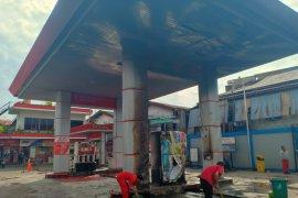 Pascakebakaran SPBU di Jalan Imam Bonjol berhenti operasional sementara