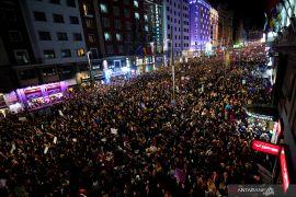 Ribuan orang di Madrid protes KDRT