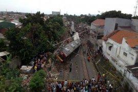 Kecelakaan KRL jurusan Jatinegara-Bogor