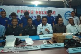 BNNP amankan lima tersangka narkoba beserta barang bukti