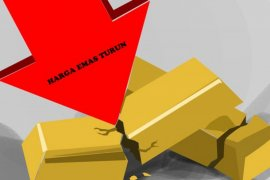 Emas turun tipis tertekan kenaikan ekuitas dan dolar AS