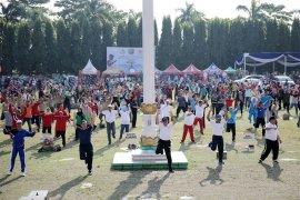Senam Germas Meriahkan HUT Ke-55 Lampung 2019