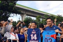 Sandiaga Uno dan AHY olahraga bersama jelang debat