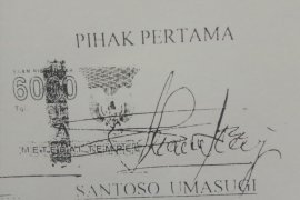 Pemalusuan tanda tangan Santoso naik ke penyidikan
