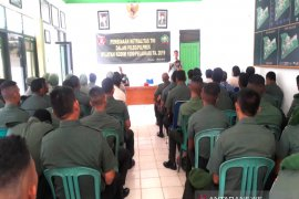 Kodim Pelaihari gelar pembinaan mental TNI