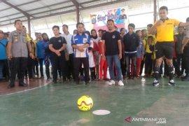 Kapolres berharap tim Futsal Asahan juara di Kapoldasu Cup 2019
