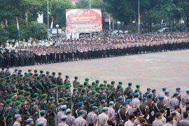 Polda Banten dan Korem 064/MY gelar pasukan jelang kampanye rapat umum Pemilu 2019.