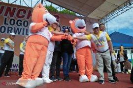 Beruang madu jadi maskot Porwil Sumatera 2019 di Bengkulu