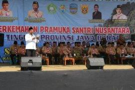 1.200 santri ikuti Perkemahan Santri Pramuka di Pangandaran