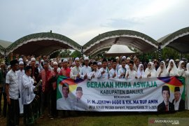 Ketua Aswaja : Kaum muda Nahdliyin solid dukung Jokowi-Ma'ruf Amin