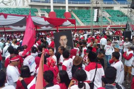 Ribuan pendukung Jokowi-Ma'ruf padati Stadion Jember Sport Garden (Video)