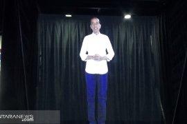 Presiden Jokowi sampaikan capaikan kinerja melalui teknologi hologram
