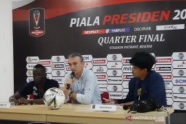Pelatih Arema Milomir Seslija puas dengan kemenangan timnya atas Bhayangkara