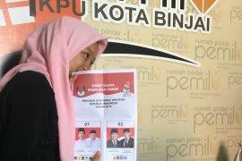 KPU Binjai temukan 498 lembar surat suara Pilpres-DPD rusak