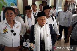 Ma'ruf Amin temui generasi milenial dan ulama di Palembang