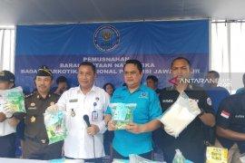 BNNP Jatim musnahkan barang bukti 22 kilogram sabu-sabu