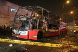 20 tewas dalam kebakaran bus di Peru