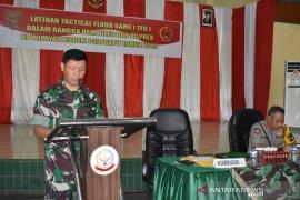 """Danrem 042/Gapu pimpin """"Tactical Floor Game"""" jelang Pemilu"""