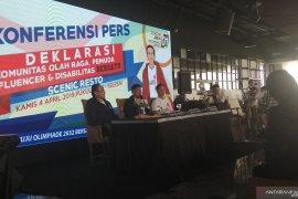 Jokowi-Ma'ruf dapat dukungan Komunitas Olah Raga Bersatu