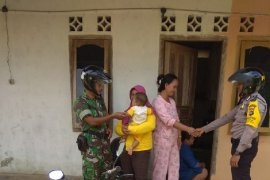 Polsek Riau Silip bersama TNI intensifkan patroli pengamanan pemilu