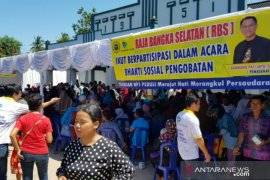 Ribuan masyarakat Toboali hadiri Baksos pengobatan Yayasan BPJ Peduli