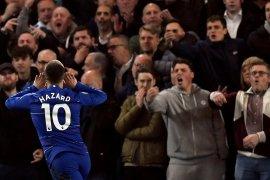 Cetak Dwigol, Eden  Hazard antarkan Chelsea ke posisi ketiga