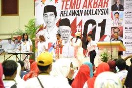 1.200 relawan Capres Jokowi - Amin hadir di Kuala Lumpur