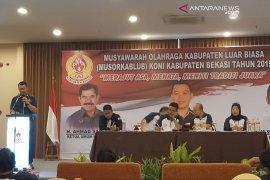 Reza Lutfi Ketua KONI Bekasi periode 2019-2023 hasil Musorkablub