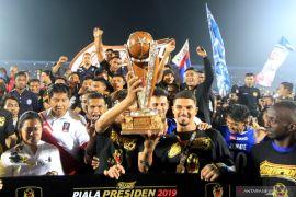 Pemain Arema FC diliburkan usai juarai Piala Presiden 2019