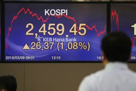 Bursa saham Seoul naik 0,22 persen