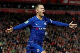 Pelatih Liverpool ungkapkan rencana hentikan Eden Hazard