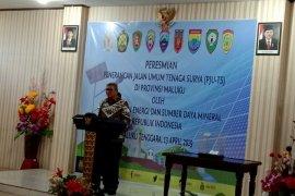 Kementerian ESDM resmikan lampu penerang jalan umum di Maluku