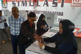 KPU Kota Pontianak simulasi pemungutan dan penghitungan suara Pemilu