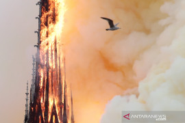 Negara-negara Eropa akan bantu Gereja Notre-dame setelah kebakaran