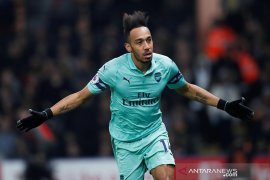 Arsenal kembali masuk empat besar usai tundukkan 10 pemain Watford