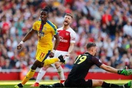 Crystal Palace memermalukan Arsenal 3-2 di Emirates