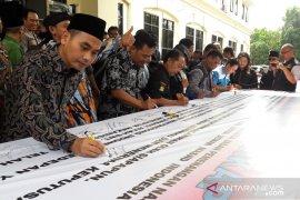 Polres Bekasi inisiasi deklarasi damai pascapemilu